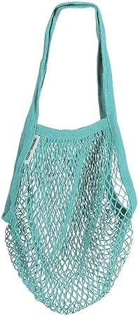 Bolsas de algodón reutilizables, organizador de bolsa de malla reutilizable grande para compras, juguete de playa con mango largo para almacenamiento de frutas y verduras(zafiro): Amazon.es: Hogar