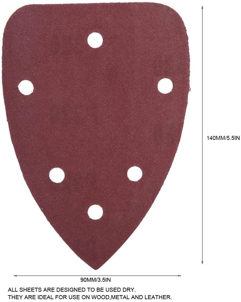 CHUNSHENN 6 Hole Sandpaper Flocking Sandpaper Sandpaper 140 90mm Sand Paper For Polishing 80pcs Abrasive Accessories