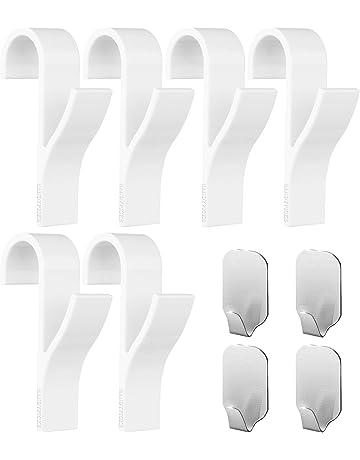 Ganchos para toallero (pack de 10) – 6 piezas de ganchos de plástico ABS