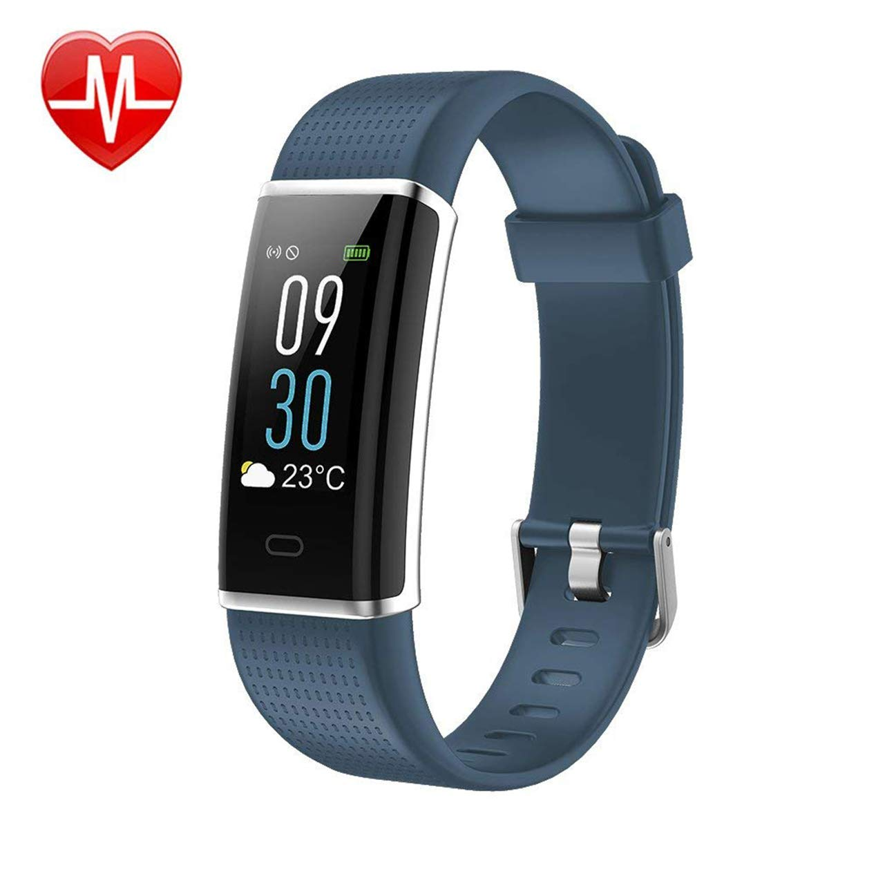 KARSEEN Fitness Tracker, Activity Tracker Fitness Watch Heart Rate Monitor Colorful OLED Screen Smart Watch with Sleep Monitor, Step Counter, IP68 Waterproof Pedometer for Android&iOS Phone (Grey) by KARSEEN
