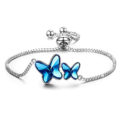 Bracelets For Her Teen Girls Daughter Swarovski Butterfly Bracelet Jewelry Women Anniversary Valentines Gifts