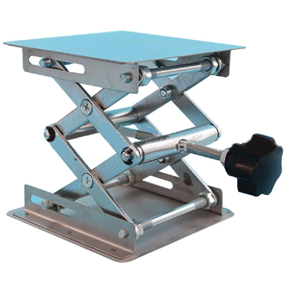 Vinmax Stainless Steel Lab Jack Platform Laboratory Stand Lifting Platform Stand Laboratory Dynamic Load Rack Lab-Lift Lifter