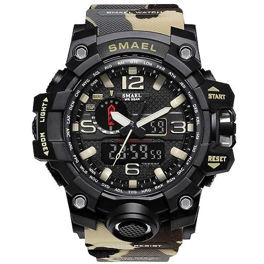 Clásica Hombres, Mujeres, niños, niñas, Bonitos Relojes Elegantes Mens Sports multifunción Impermeable LED Digital Cuarzo Reloj Moda Wrist Watches: ...