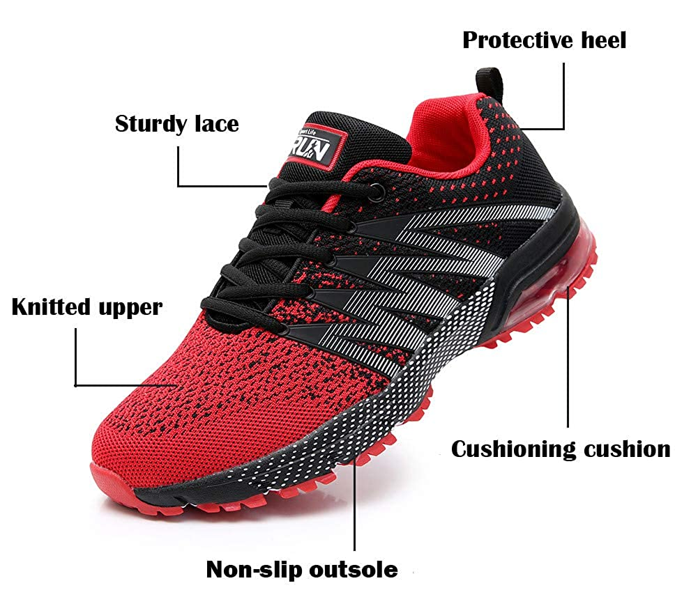 AZOOKEN Men Women Mesh Running Trainers Athletic Walk Gym Shoes Sport Fitness Athletic Casual 36-47