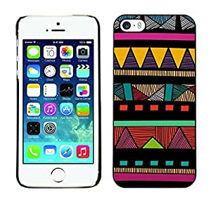 iKiki Tech / Hard Case Cover - American Colorful Pattern - Apple iPhone 5 / 5S