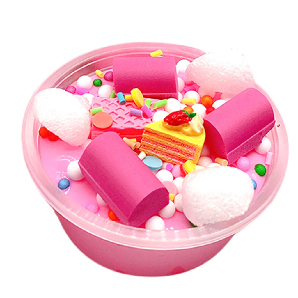 Clearance Sale!DEESEE(TM)Cloud Cake Milk Puff Squishies Mud Slime Putty Scented Stress Clay Sludge Toy (A)