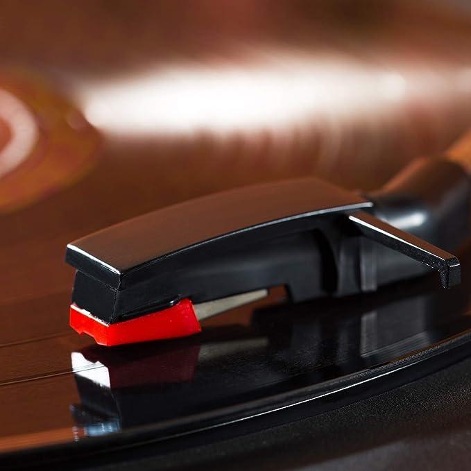 HNYG - Aguja de repuesto para tocadiscos (4 unidades, puntero de ...