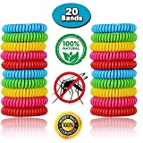 Mosquito Repellent Bracelet For Kids, Adults & Pets - Easy & Comfortable Travel Insect Repellent Design For 310 Hours of Maximum Protection Against Bugs, Pests, Waterproof, 100% Natural