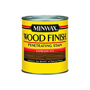 Minwax 700504444 Wood Finish Interior Penetrating Stain, Quart, Espresso