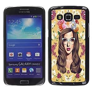 Dragon Case - FOR Samsung Galaxy Grand 2 - I falling love with you - Caja protectora de pl??stico duro de la cubierta Dise?¡Ào Slim Fit