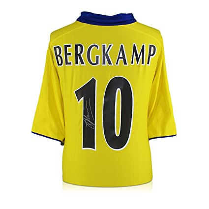 afdc9203b Dennis Bergkamp Signed Arsenal Invincibles Away Jersey at Amazon s Sports  Collectibles Store