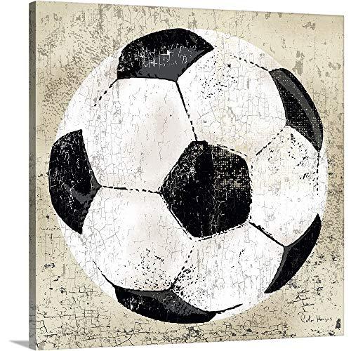Soccer Canvas Art - Vintage Soccer Ball Canvas Wall Art Print, 20