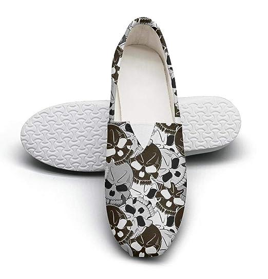 070442f00a50e Amazon.com: Women's Cotton Espadrille Skull Floral Sneaker Shoes ...