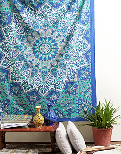 Star Tapestry, Hippie Mandala Wall Hanging, Psychedelic Twin Tapestries Bohemian Bedspread Boho College Dorm Decor Rajrang