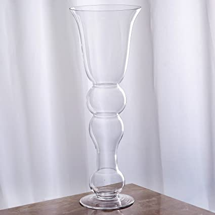 Amazon Balsacircle 4 Pcs 20 Tall Clear Glass Curvy Trumpet