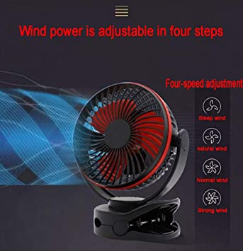 Clip de ventilador pequeño ventilador mini de carga ventilador ...