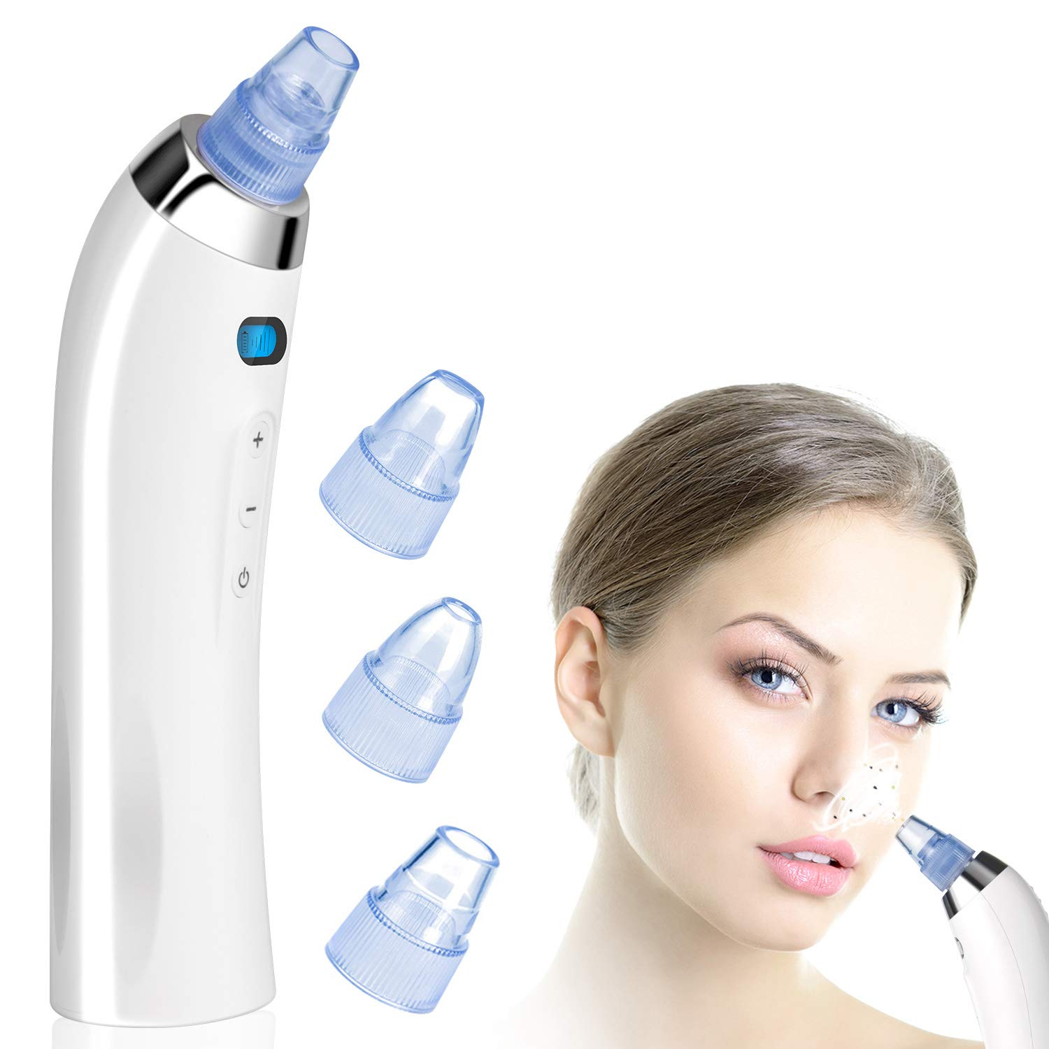 Blackhead Remover Pore Vacuum Electric Acne Comedo Extractor Tool USB  Rechargeable Blackhead Suction Advanced Skin Therapy Kit Blackhead Vacuum  Suction Remover Restore Radiance & Beauty for Skin: Beauty cjp.org.in
