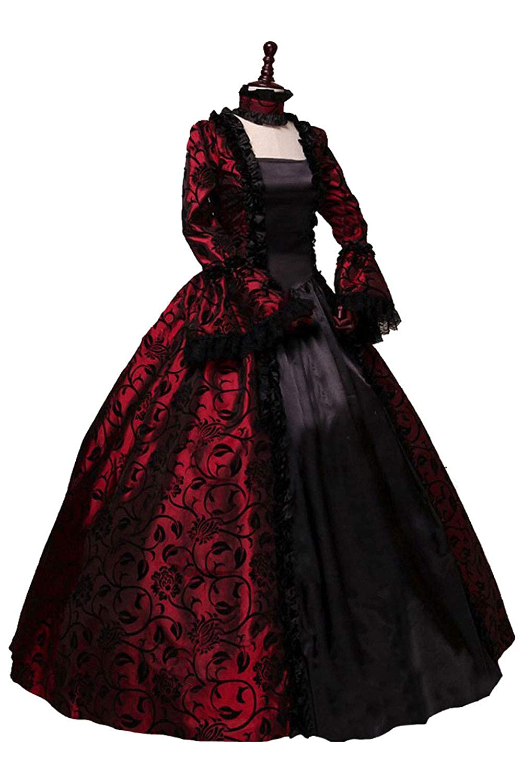 Amazon.com: Victorian Dress Gothic Steampunk Ball Gown ...