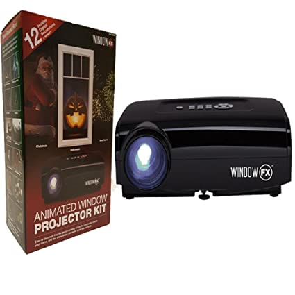 2016 windowfx atmos animated window projector kit includes 12 pre loaded holiday images