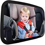 Darius Baby Backseat Mirror for Car View Infant in Rear Clearest Largest Fully Assembled Adjustable Crash-tested Essential Car Seat Accessories
