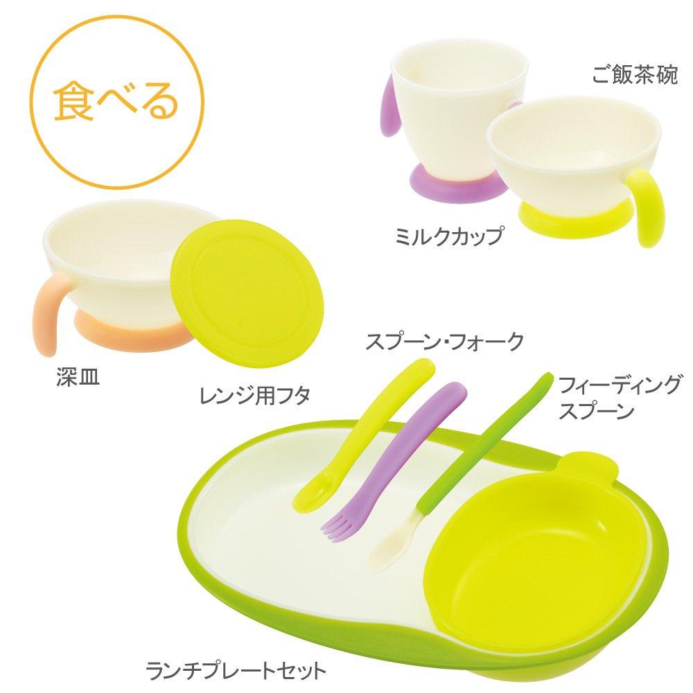 CONBI Baby label Navigation Tableware set NEW JAPAN by CONBI (Image #4)