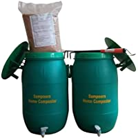 SAMPOORN HOME COMPOSTER- A PRODUCT OF SAMPOORN ZERO WASTE PRIVATE LIMITED is an Aerobic Composting Kit for 3 to 6 Family Members(Two 35 litres Compost Bins with Accessories)