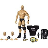 WWE Ultimate Edition Stone Cold Steve Austin Action Figure, 6-in / 15.24-cm, with Interchangeable Heads, Swappable Hands…