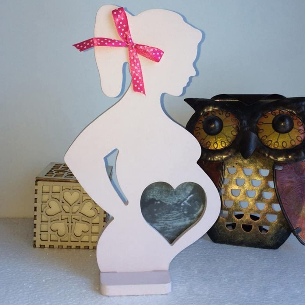 lightclub Wedding Photo Frame Wood Pregnant Women Body Home Decor Props Party Signs for Baby Boys or Girls Room 1