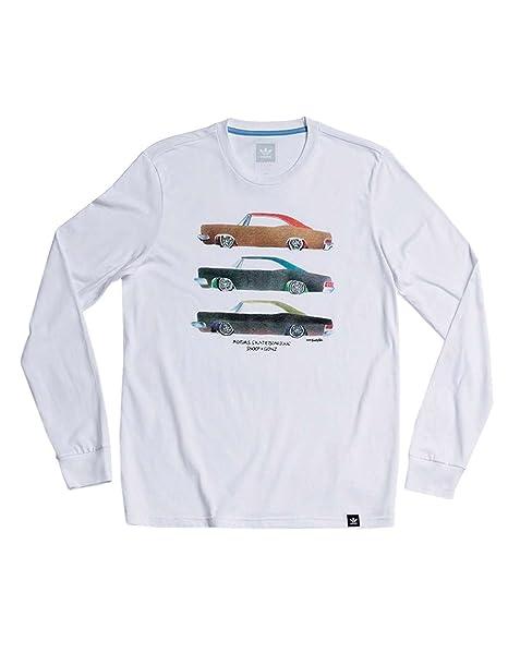 9300cdb8 Amazon.com: adidas Skateboarding Men's Snoop X Gonz Long Sleeve Tee White  Shirt: Sports & Outdoors