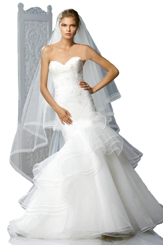 Passat 2t 2m3m4m5m Long Julianne Veil Horsehair Edge Wedding Face