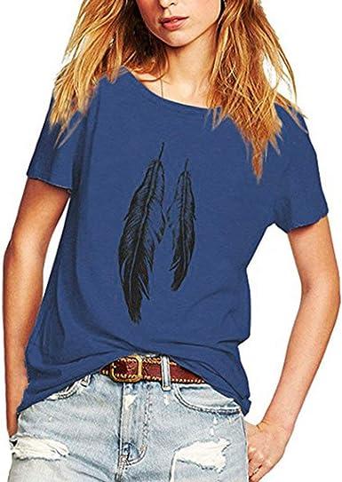 Camisetas Mujer Manga Corta Camiseta Mujer Verano Blusa Retro ...