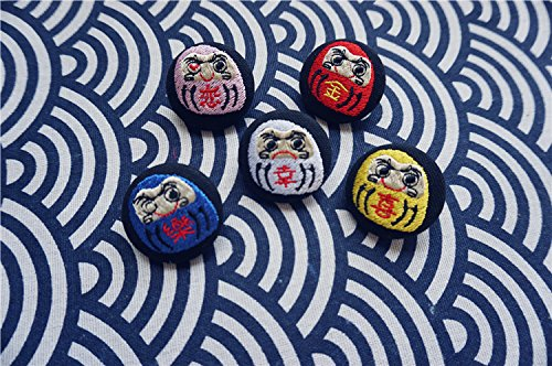 - Original custom-made embroidery brooch fashion accessories archaic Jaese Dharma blessing wrapper deduction cloth pin badge