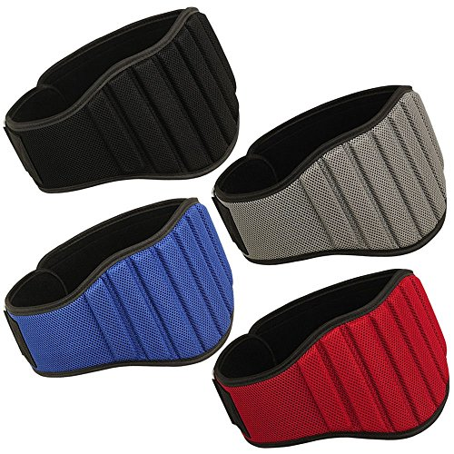 "Smilingtree,Weight Lifting Belt Gym Back Support Fitness MRX Belts 8"" Wide 4 Colors,gym belt (Grey, XL)"