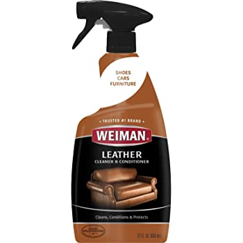 Weiman Leather Cleaner & Conditioner - 22 Ounce - Cleans Conditions and Restores Leather Surfaces - UV Protectants Help Prevent Cracking or Fading of ...