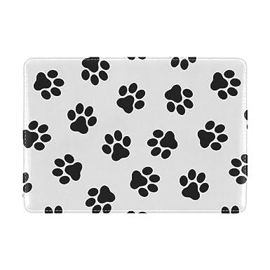 Amazon.com: Cooper niña perros huella funda para pasaporte ...