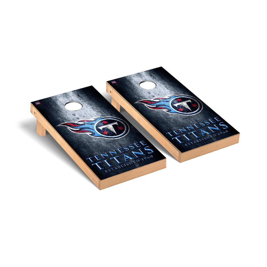 NFL Tennessee Titans Museum Version Football Corn hole Game Set, One Size by Victory Tailgate (Image #1)