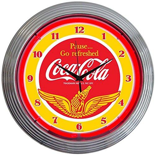 Buy neonetics coca-cola wings neon clock