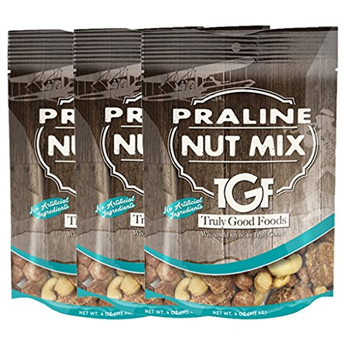 - Praline Nut Mix | Southern Sweets | Cashews, Praline Pecans, Butter Toffee Peanuts - 3 pack, 4oz SUR bags