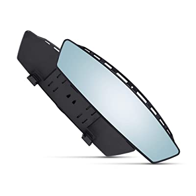 12 Inch Interior Rearview Mirror - Blue Tint - Clip On - Wide Angle - For Use in Car, SUV, Truck: Automotive [5Bkhe1500295]