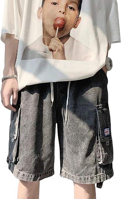 MengFanカーゴパンツ メンズ 大きいサイズ ポケット付き デニム カジュアル ゆったり ショットパンツ ジーンズ 無地 夏 シンブル 義能 ゴロツキ ファッション デート 旅行