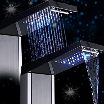 AYHa Pantalla digital Grifo de ducha Monomando Ducha Baño Columna ...