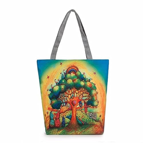 casuale donna Kangrunmy Bags Tote 2017 Beach Stampa Canvas Borse TOYq6P
