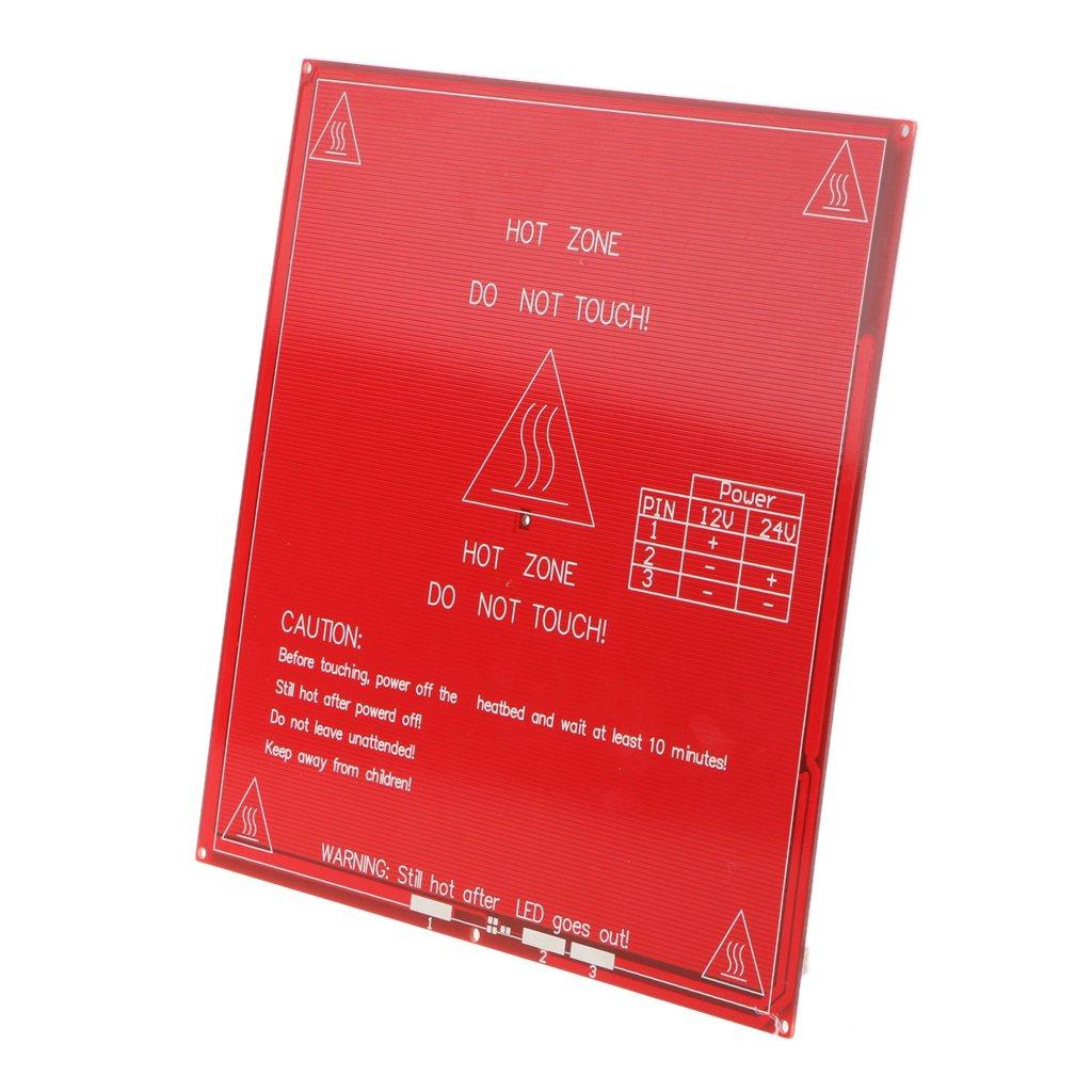 IPOTCH Cama Calefactora MK2B 214 mm x 214 mm PCB con Calefacci/ón y Placa Calefactora 12//24 voltios
