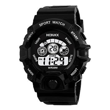 2018 Hombres de Moda analógico Militar Digital Deporte LED Impermeable Reloj de Pulsera: Amazon.es: Deportes y aire libre