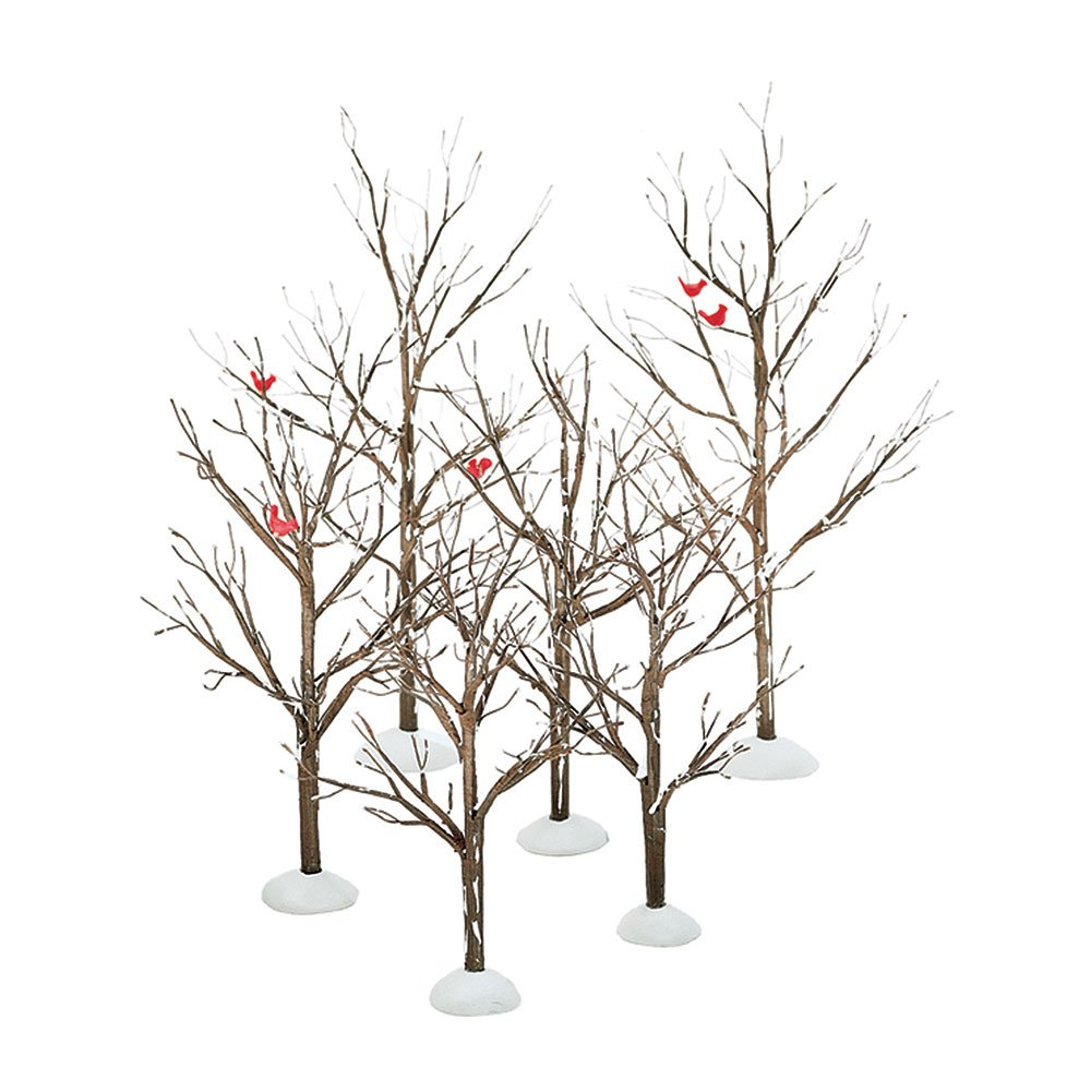 Department 56 Village Bare Branch Trees Accessory Figurine (Set of 6) 56.52623