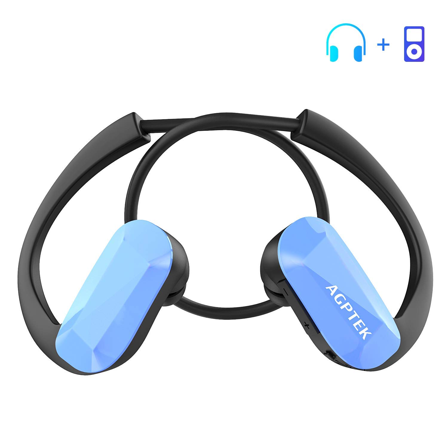 AGPTEK Sport MP3 Player Headphones All in One 8GB  Amazon.co.uk ... ab4f60c5bba6c