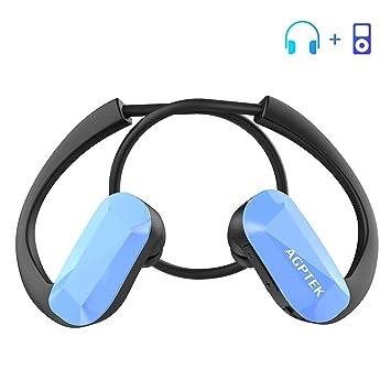 AGPTEK Auriculares Reproductor MP3 8 GB, Todo en Uno, Música sin Pérdida, Diferentes