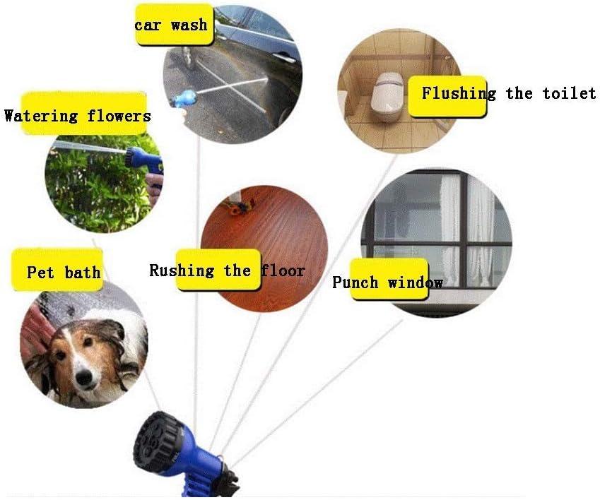 DXX Expandable Hose Pipe,Expandable Water Hose,Healthy Plastic Multi-Function Car Wash Home Garden Hose,Triple Retractable, with 7 Function Spray Nozzle,7.5m 22m