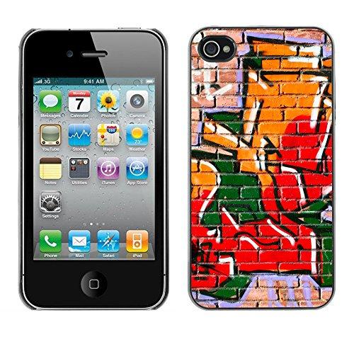 Premio Sottile Slim Cassa Custodia Case Cover Shell // V00002340 Graffiti // Apple iPhone 4 4S 4G