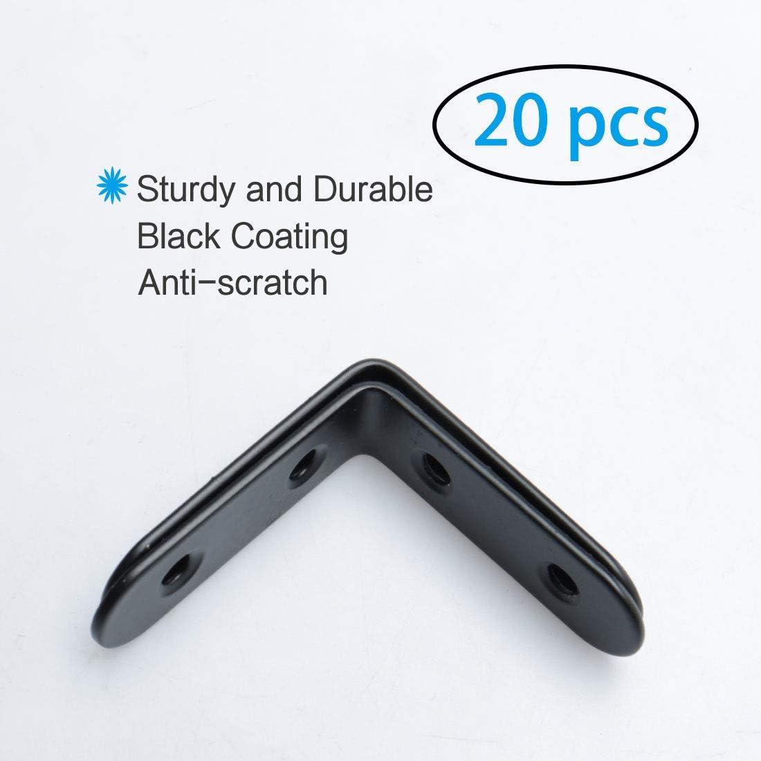 soportes de /ángulo recto soporte protector de esquina con tornillos para muebles en forma de L Soporte de /ángulo de acero inoxidable para esquina
